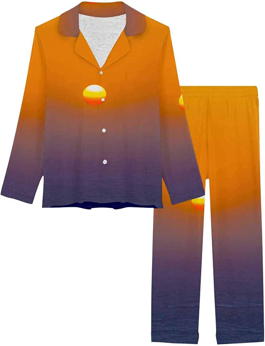 Max 54% OFF InterestPrint Long Sleeve Loungewear Notch Pj free Collar Set Santori