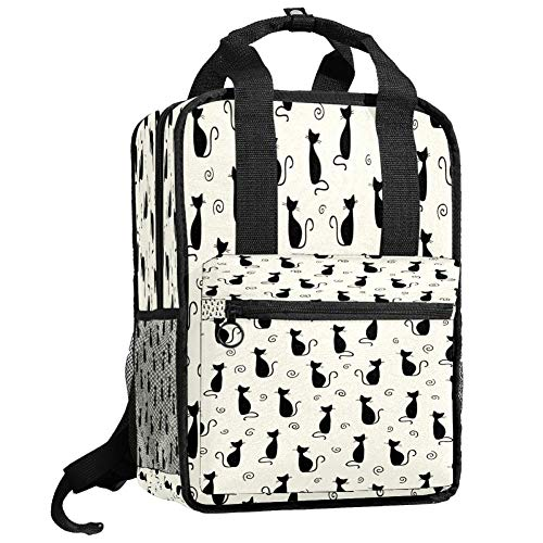 Backpacks Shoulders Bag pretty black cats Backpack traveling middle school high school