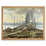 Colville Nijmegen Bridge Holland WWII War Painting Art