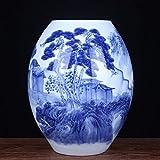 Jarrones Decorativos Tumba vintage azul y blanco de porcelana...