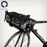 ROSWHEEL 3L-7L 防水 調整可 大容量 自転車 サイクリング ハンドルバー フロント バッグ パニエ 取り外し可
