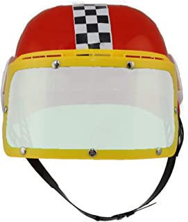 Jacobson Hat Company Kids Plastic Racing Helmet Assorted (Red or Blue)