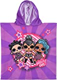 L.O.L Surprise Girls Poncho Toalla Playa LOL Púrpura