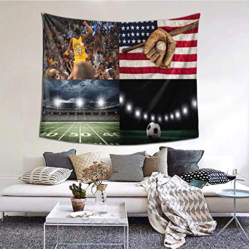 Tapiz universitario de baloncesto para dormitorio colgante de pared Tapices de tela de poliéster para dormitorio sala de estar decoración de pared (101,6 x 152,4 cm)