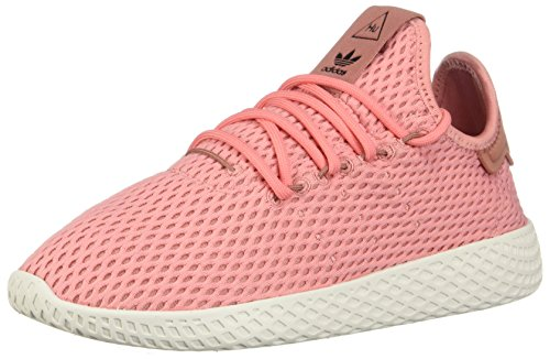 adidas x Pharrell Williams Big Kids Tennis HU J Pink Tactile Rose Footwear White Size 5.0 US