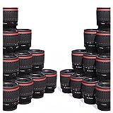 Canon Makro-Objektiv. 1:1 Makro. Aufgerüstetes Canon EF 35 - 80 mm f4 - 5.6 Objektiv für Nahaufnahmen. Digital & Film EOS. EF-S. EFS. 35 - 80 mm. Entspricht ungefähr 60 mm - 130 mm auf einer Kamera mit Crop-Faktor 1,6x und 50 mm - 100 mm auf einer Kamera mit Crop-Faktor 1,3x. 1.8x, 0.9x, 0.4x, 0.7x Vergrößerung. Passt auf EOS 5D 7D 60D 550D 600D 650D 700D 1000D 1100D und weiteren. Canon Makro-Objektiv.
