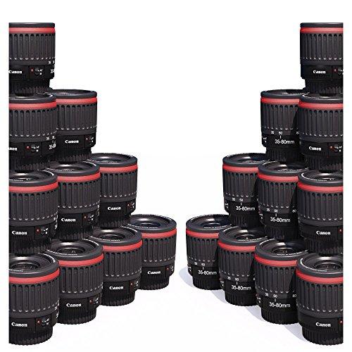 Canon - Obiettivo macro 1:1 EF 35 - 80 mm f 4-5.6, per messa a fuoco a distanza ridotta Ingrandimento 1,8x 0,9x 0,4x 0,7x Filtro da 52 mm Per EOS 5D 7D 60D 550D 600D 650D 700D 1000D 1100D e altri modelli