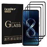 ivoler 3 pezzi pellicola vetro temperato per asus zenfone 8 zs673ks 5.9 pollici, [copertura completa] pellicola protettiva protezione per schermo anti graffio, durezza 9h, senza bolle