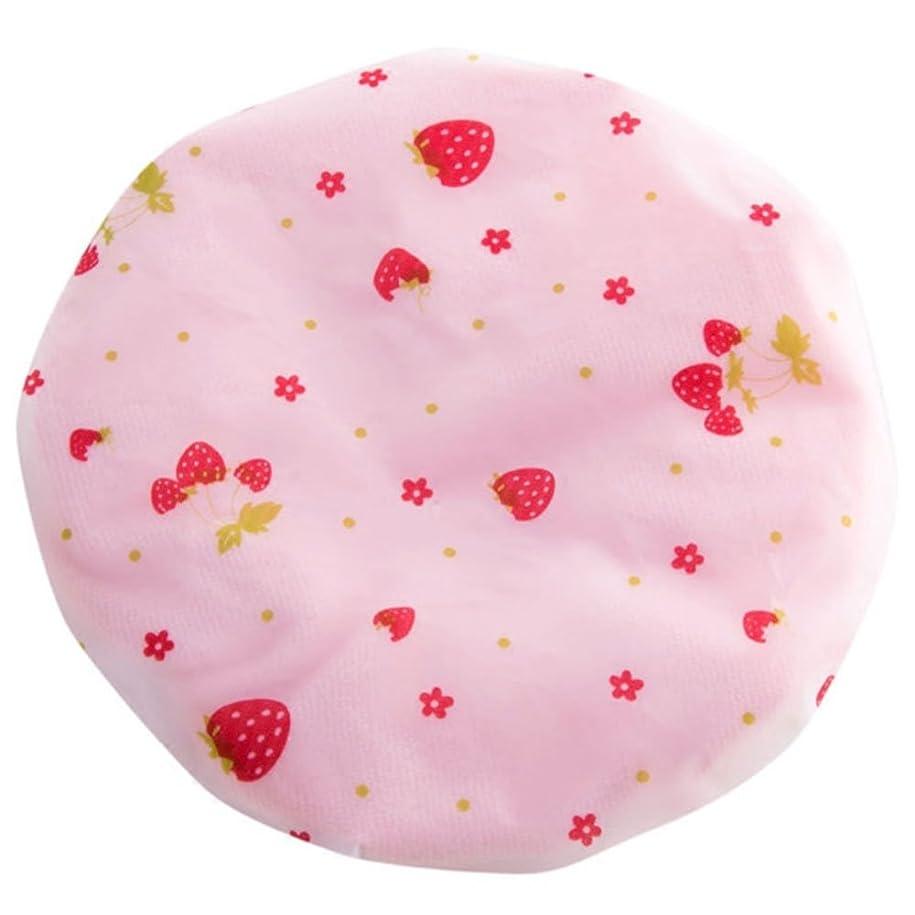 キノコ有望回転する山の奥 シャワーキャップ 可愛い ヘアーキャップ 防水帽 入浴キャップ 帽子 お風呂 シャワー用に 浴用帽子 便利 再使用可能なサロンの髪を保護する帽