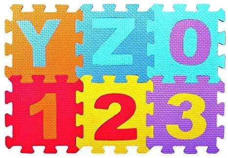 Ecosway 36 Piezas / Juego Bebé Eva Espuma Puzzle Alfombra Juegos Número Entrelacables Ejercicio Azulejos Almohadilla Niños Suelo Alfombra Tapete, Suelo Alfabeto Puzzle Manta de Juegos