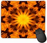 N/A FamilyMouse Pad,Standard SizeMousepad Abstract Pattern Mandala Power Blazing Fire Background Blurry Motion Flame Raged Lifelike 25 * 30Cm