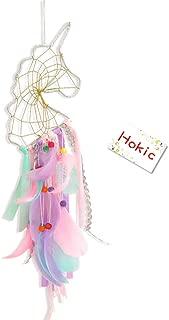 Hokic Unicorn Dream Catcher Wall Hanging Colorful Handmade Dreamcatchers for Kids/Girls Bedroom Unicorn Theme Birthday Party