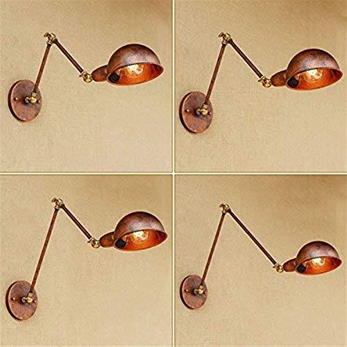 CKQ-KQ Gepersonaliseerde slaapkamer minimalistische woonkamer wandlampen, Hyun Off The Road Corridor wandlamp IJzer Lange Arm Household wand lampen met Tungsten Light Source Hotel Decoration Lig wandl