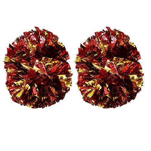 Zetiling Cheerleading Poms, Double Flower Ball für Sportspiele, Stadien, Partys, Festivals, Bühnenauftritte Super Large Dance Spot(# 6)