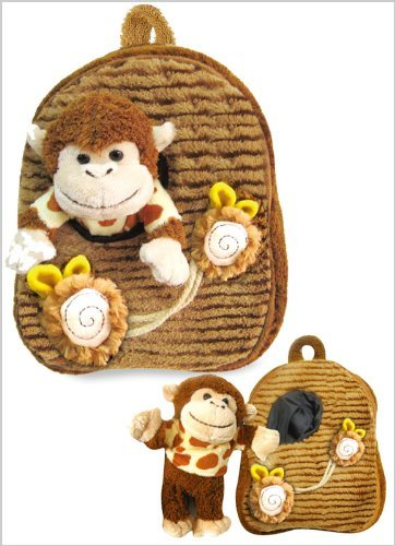 Pecoware / Best Buddy Backpack with Removable Plush - Monkey in Pocket