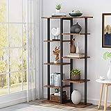 Tribesigns - Estantería de almacenamiento para estantería industrial estable con marco de tubo de hierro para el hogar, sala de estar, dormitorio, oficina
