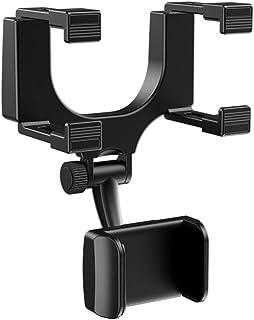 Handyhalterung Auto Rückspiegel,MoreChioce 360 Grad Drehbar Auto Rückspiegel Halterung Universal KFZ Handyhalter für Navi Handys Smartphones Breite 3 bis 5,5 Zoll