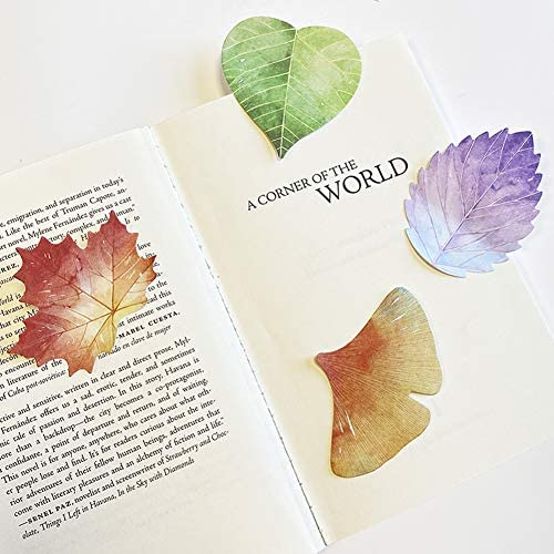 Papermore Leaves Sticky Notes Leaf Design Self Stick Self Adhesive Notepads Note Memo Pads 4 product image