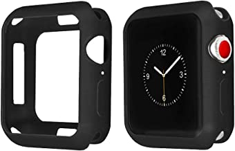 Orzero TPU Case for Apple Watch Series 4 44mm Full Body Shock Absorbing Ultra Slim Protective-Black