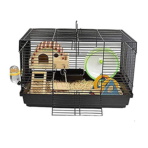 Aeonhumハムスターケージハムスターハウス通気組立式小動物ケージ飼育ケージ内装幅広いセット付き持ち手付きサイズ:47*30*30cm(セット)
