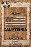 """Oakland, California: Book For Writing / Journal Notebook / Diary for Writing / Travel Journal / Notebook White Paper Blank Journal / Gift for anyone, Size 6""""x9"""" And 120 Pages"""