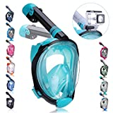 QingSong Full Face Snorkel Mask with Newest Breathing System, Give You A Natural & Safe Snorkeling Experience, Foldable 180 Degree...