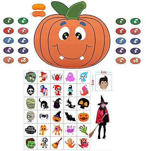 Pin The Nose on The Pumpkin Game Halloween Party Favors Halloween Game Halloween Decorations