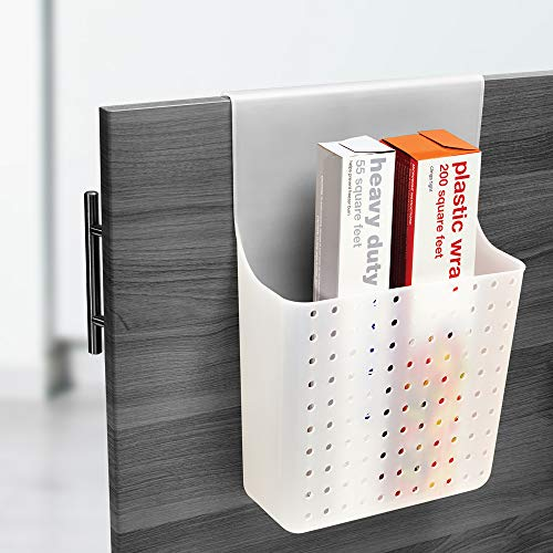 madesmart Over Door Wrap Organizer - Frost | CABINET COLLECTION | Aluminum Foil, Parchment and Kitchen Wrap Organizer | Soft-grip Hook | BPA-Free