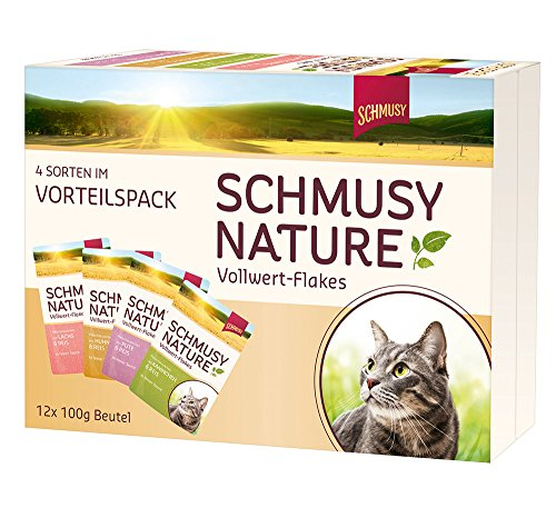 Schmusy Nature Vollwert-Flakes Multibox, 4er Pack (4 x 1.2 kg)