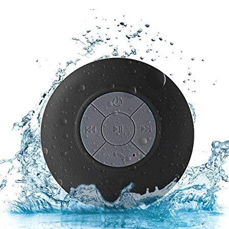 LZW Im Freien Wasserdichten Drahtlosen Bluetooth-Lautsprechern Mini Wiederaufladbare Großen Saugnapf Bluetooth-Lautsprecher Portable Geeignet Für Bad, Schwimmen Etc,Schwarz