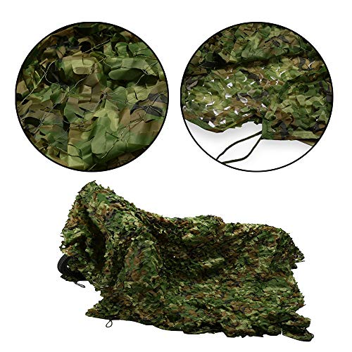 Chasse Tactique Militaire Furtif Camouflage Net Camouflage Net Camouflage Net Camping Feuille Camouflage Style Chasse en Plein Air étanche Et Résistant Au Sable(Size:3 * 10m)