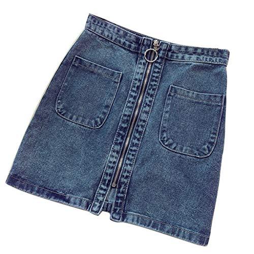 Brizz Mini-rok voor dames, met stretch-materiaal met ritssluiting-look
