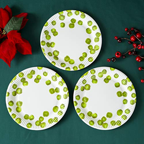 Talking Tables BC-Sprout Coastal Paper Plates, Microfibre, Multicolores, 23 x 23 x 2,5 cm