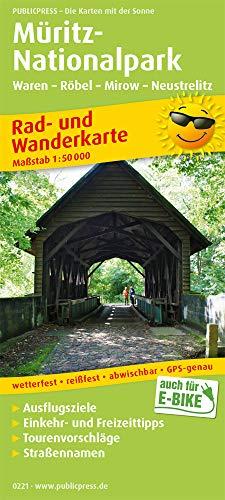 Müritz-Nationalpark, Waren - Röbel - Mirow - Neustrelitz: Rad- und Wanderkarte mit Ausflugszielen, Einkehr- & Freizeittipps, Nebenkarte Müritz ... 1:50000 (Rad- und Wanderkarte / RuWK)