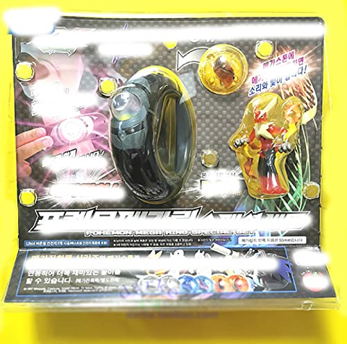 Pokemon Anime Figuras Set Toy Blaziken Mega Evolution Pulsera Evolution Stone PVC Figuras De Acción para Niños Modelo Muñeca Coleccionable Estatuas Regalo para Niños