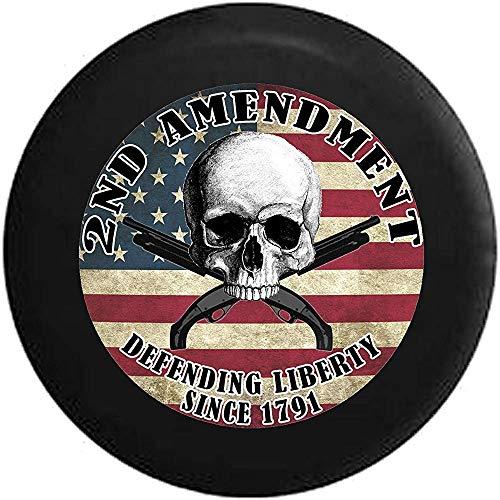 Segunda Enmienda Cráneo sobre Bandera con Armas Cruzadas América defendiendo la Libertad...