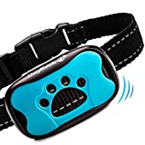 DogRook Bark Collar - Humane, No Shock Training Collar - Action Without Remote - Vibration & Sound Care Modes - For Small, Medium, Large Dogs Breeds - No Harm Deterrent Reflective Vibrating Control