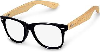 Navaris Occhiali non graduati retro donna uomo - Occhiali finti da vista unisex protezione luce blu PC - Occhiale con asti...