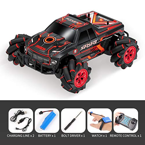 Kinshops UK2077 1:16 Simulation RC Four-Wheel Drive Watch Gesture Induction Remote Control Sound Light Drift Car Vehicle Toy