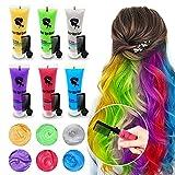 Byhoo | Haarfärbemittel für dunkles Haar, temporäre Haarfarbe, inkl. Kamm, für Mädchen und...