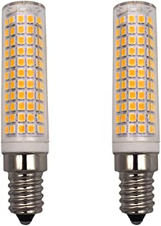 GRV E14 Base LED 7W Ceramic Light Bulb Dimmable 2835Smd-136Pcs Ac110V 90W 100W Incandescent Lamp Replacement Warm White Pack of 2