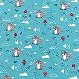RosaliNum 0,5m Jersey süße kleine Waschbären &