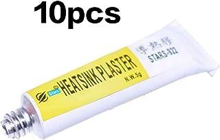 JIUY 10pcs / set 5g STARS-922 viscoso del pegamento adhesivo pegajoso Totalmente de grasa de silicona térmica adhesiva enfriador de refrigeración del radiador pegamento (blanco)