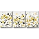 SUMGAR Lienzo Pintura Flores Amarillas Cuadro de Pared Cuadro Pintura Vintage para Sala de Estar...
