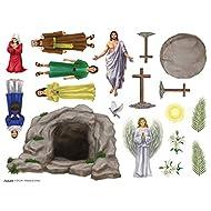 Resurrection of Jesus Christ Sunday School Easter Magnet Set, Pack of 12