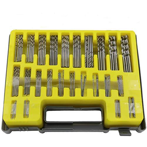 Yiwa 150 stuks/boren voor blikjes, weinig draaiboor, HSS-vermogen 0,4 mm-3,2 mm, HSS met koffer