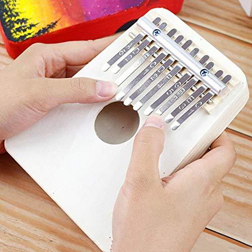 LDLL Kalimba DIY Thumb Piano, Sanza 10 Teclas Piano De Pulgar Pintura De Bricolaje, para Desarrollo De Interés Infantil