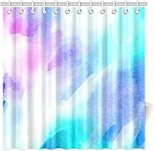 Home Decor Bath Curtain Watercolour Watercolor Paint Ink Wash Polyester Fabric Waterproof Shower Curtain for Bathroom, 72 X 72 Inch Shower Curtains Hooks Included