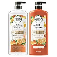 90% NATURAL ORIGIN SHAMPOO AND CONDITIONER made with real botanicals and natural source ingredient materials with limited processing & purified water VOLUMIZE HAIR: Our White Grapefruit & Mosa Mint Volumizing Shampoo is crafted to cleanse for volumin...
