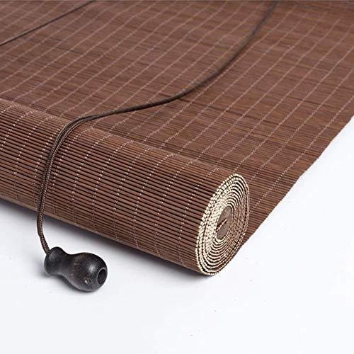 Obturador de rodillo natural Persianas for persianas enrollables Sombrilla Cortina de aislamiento Bloqueador solar Bambú 85% Sombreado Persianas enrollables de bambú Persianas romanas Opciones de múlt